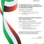 Sora: 2 e 4 novembre, il programma delle cerimonie.