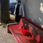 ANAGNI: Una panchina dipinta di rosso contro la violenza sulle donne. Iniziativa dell'Amministrazione Comunale.