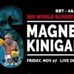 Boxe: mondiale Magnesi-Kinigamazi confermato venerdì 27 novembre a Fondi (LT).