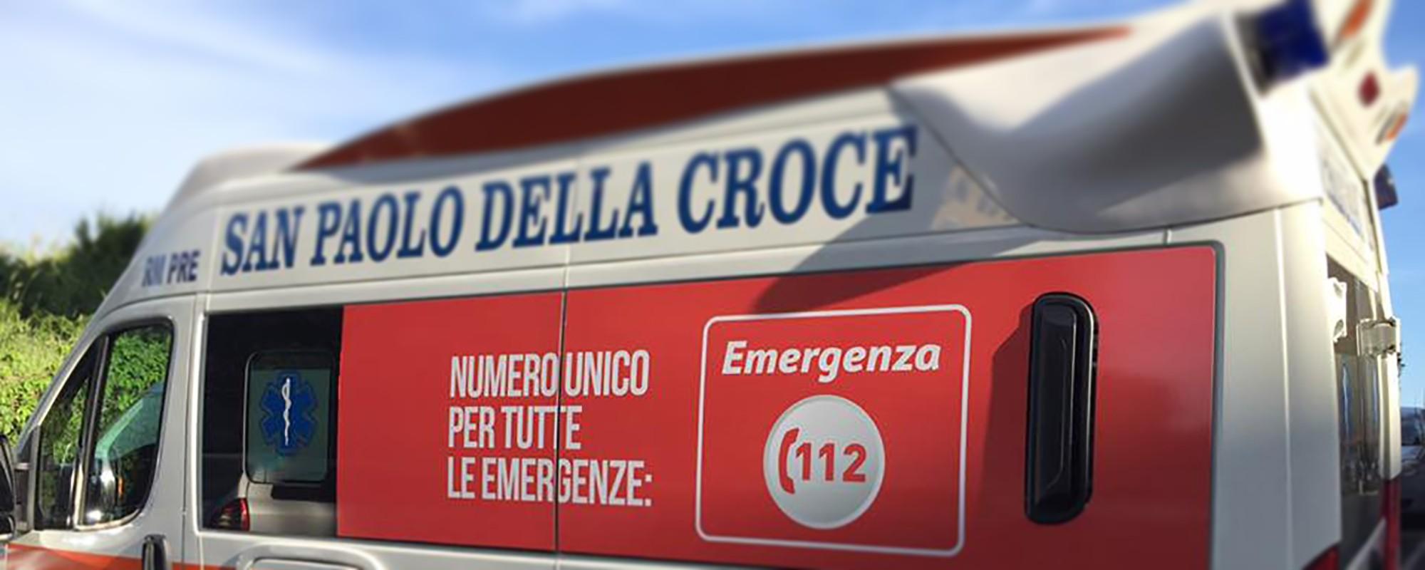 Sora: Gianluca Quadrini si congratula con Francesco Marchione, tra i primi vaccinati della zona di Sora.
