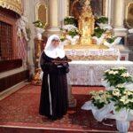 SUOR MARIA CHIARA CRISTIANA, NOVIZIA ENTRANTE NEL MONASTERO DELLE CLARISSE DI ANAGNI.