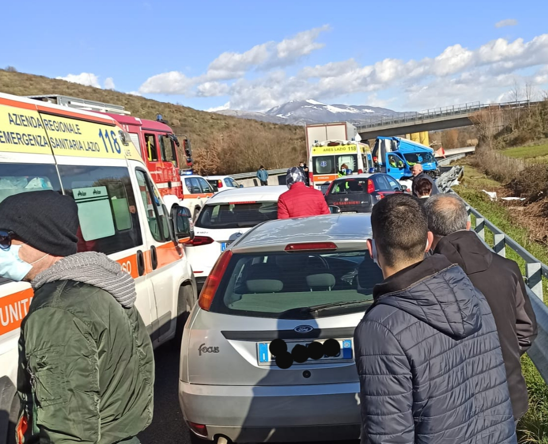 Grave incidente sulla superstrada Ferentino -Sora