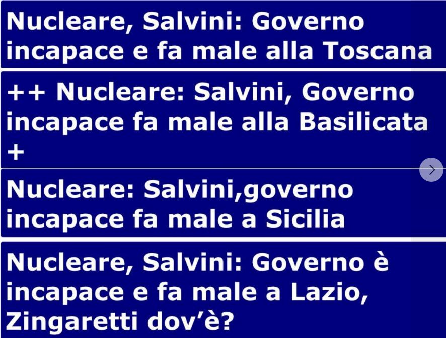 """Nucleare, Morassut attacca Salvini: """"Tema delicato, non è come cambiare felpe""""."""